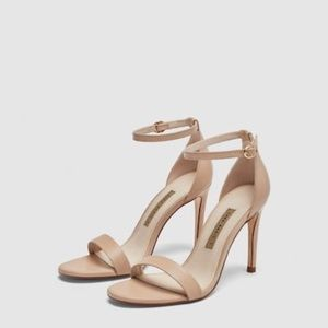 Zara leather high heel sandal